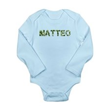 Matteo, Vintage Camo, Long Sleeve Infant Bodysuit