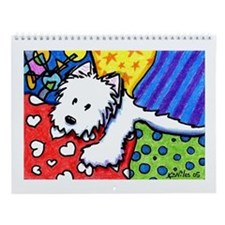KiniArt Westies Wall Calendar