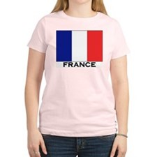 Flag of France Women's Pink T-Shirt