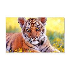 Tiger Baby Cub Car Magnet 20 x 12