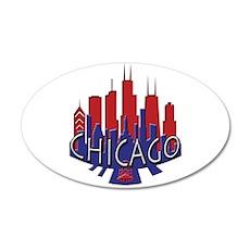 Chicago Skyline Newwave Patriot 20x12 Oval Wall De