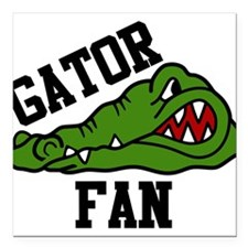 "Gator Fan Square Car Magnet 3"" x 3"""