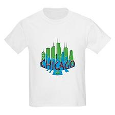 Chicago Skyline Newwave Primary T-Shirt