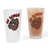 Go Dawgs Drinking Glass