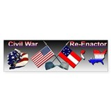 Civil War Reenactor Bumper Bumper Sticker