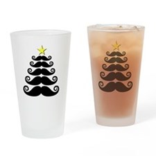 Stache-mas Tree Drinking Glass