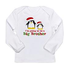 christmas surprise penguin back Long Sleeve T-Shir