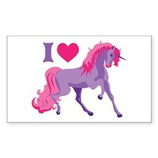I Love Unicorns Decal