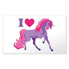 I Love Unicorns Decal