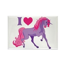 I Love Unicorns Rectangle Magnet (10 pack)