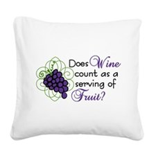 Does Wine Count Square Canvas Pillow