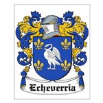 Echeverria Coat of Arms Small Poster