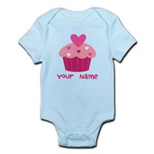 Personalized Cupcake Infant Bodysuit