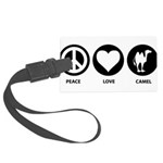 Peace Love Camel Large Luggage Tag