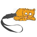 Cute Kitten Large Luggage Tag