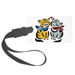 Cats In Love Large Luggage Tag