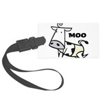 Moo Cow Large Luggage Tag