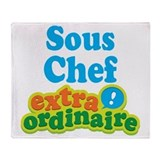 Sous Chef Extraordinaire Throw Blanket