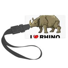 I Love Rhino Luggage Tag