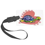 Heart Turtle Large Luggage Tag