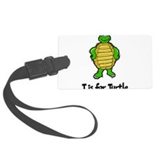 T Is For Turtle Large Luggage Tag