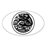 Bear & Fish Native American Design Bumper Stickers