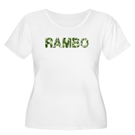 Rambo, Vintage Camo, Women's Plus Size Scoop Neck