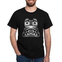 Beaver Native American Design Dark T-Shirt