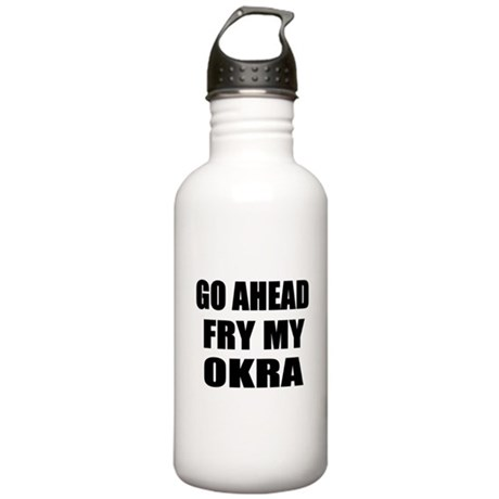 Fry My Okra Stainless Water Bottle 1.0L
