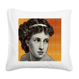 Seductress Orange Square Canvas Pillow