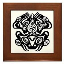 Frog Native American Design Framed Tile