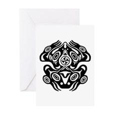 Frog Native American Design Greeting Card