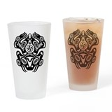 Pacific northwest indian art Pint Glasses