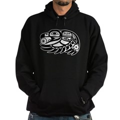 Raven Native American Design Hoodie (dark)