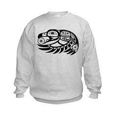 Raven Native American Design Kids Sweatshirt
