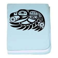 Raven Native American Design baby blanket