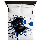 Soccer Ball Burst Queen Duvet