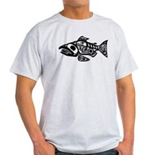 Salmon Native American Design T-Shirt