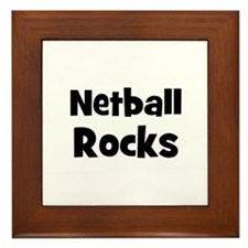 NETBALL Rocks Framed Tile