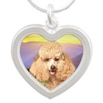 Poodle Meadow Silver Heart Necklace