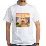 Poodle Meadow White T-Shirt