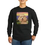 Poodle Meadow Long Sleeve Dark T-Shirt