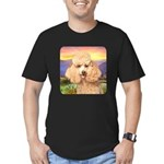 Poodle Meadow Men's Fitted T-Shirt (dark)