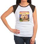 Poodle Meadow Women's Cap Sleeve T-Shirt