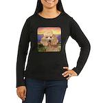 Poodle Meadow Women's Long Sleeve Dark T-Shirt