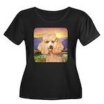 Poodle Meadow Women's Plus Size Scoop Neck Dark T-