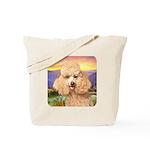 Poodle Meadow Tote Bag