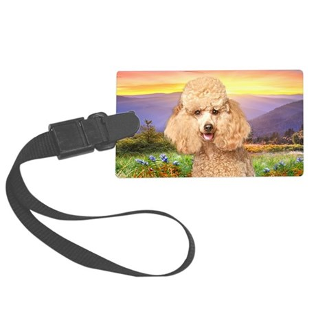 Poodle Meadow Large Luggage Tag