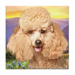 Poodle Meadow Tile Coaster
