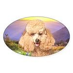 Poodle Meadow Sticker (Oval 10 pk)
